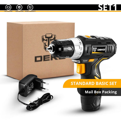 DEKO GCD12DU3 12V Max Electric Screwdriver Cordless Drill Mini Wireless Power Driver - BC&ACI