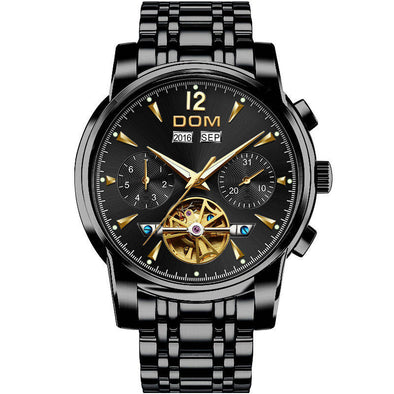 DOM Men's Mechanical Watches Luxury Fashion Brand Water Resistant Automatic Wrist - BC&ACI