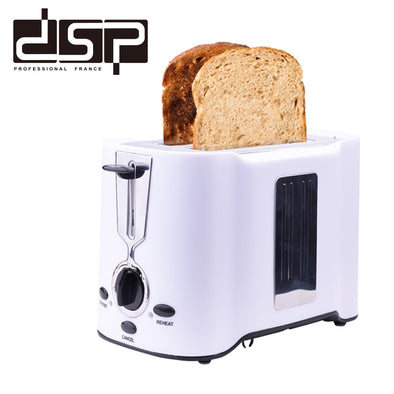 New DSP KC2038 Toaster 750W Bread Maker 2 Slices Warm Stainless Steel - BC&ACI