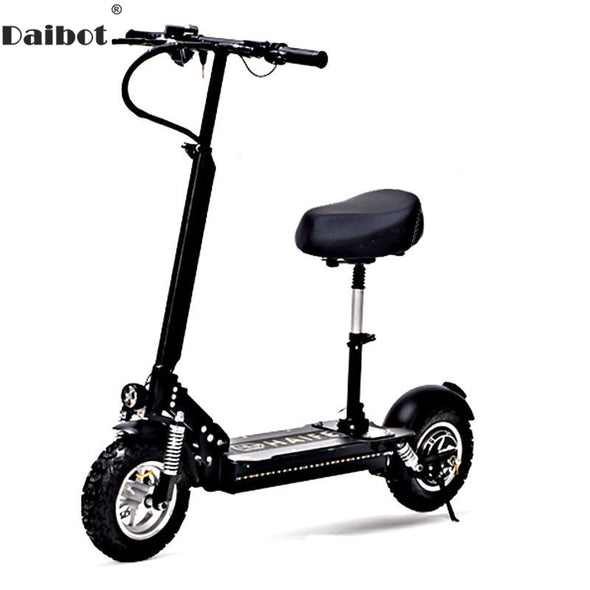 Daibot Adult Electric Bicycle Electric Scooters 11 Inch Single Motor 1000W 48V Powerful Electric Scooter With Seat For Adults - BC&ACI