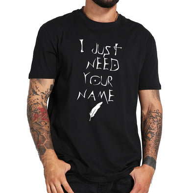 New Death Note T shirt I Just Need Your Name Letter Print - BC&ACI