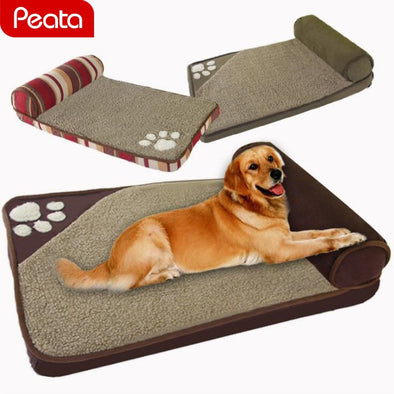 Dog House Beds for Large Small Dogs House Sofa Kennel Square Pillow