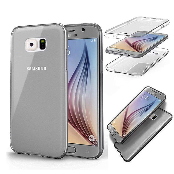 Double Silicone Case For Samsung Galaxy S5 S6 S7 Edge S8 S9 Plus A3 A5 A6 A8 J3 J4 J5