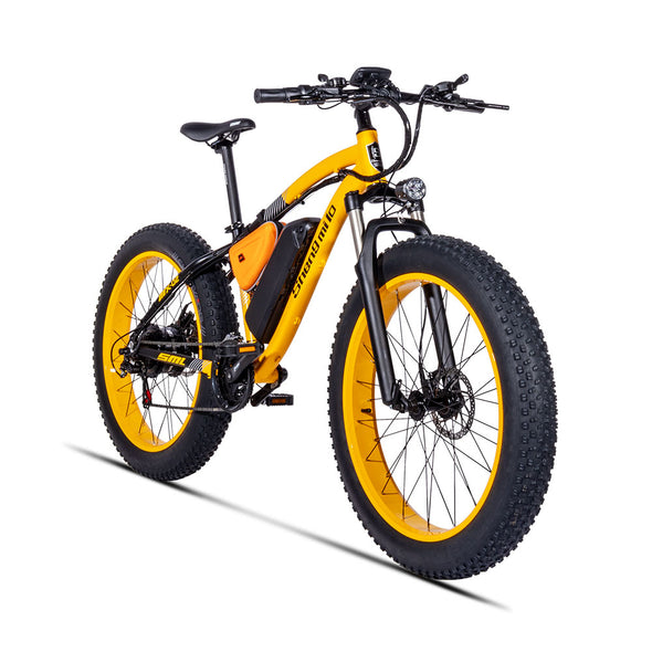 "Electric Bicycle Powerful Fat Tire Electric Mountain Bike 48V 17AH 1000W eBike Beach Cruiser 21 Speed Electric Snow Bicycle 26"" - BC&ACI"