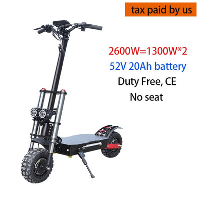 Electric Scooter 11inch Dual Motor E Scooter 60V 3200W Off Road Scooter 80km/h Double Drive High Speed Scooter Long Skateboard - BC&ACI