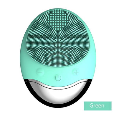 New Electric Silicone Face Cleansing Brush Wireless Charging Vibrating - BC&ACI