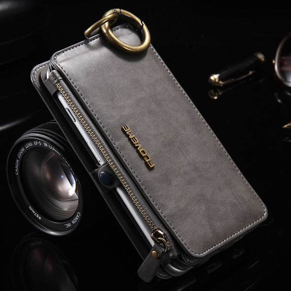 FLOVEME Luxury Retro Wallet Phone Case For iPhone 7 7 Plus XS MAX XR Leather Handbag - BC&ACI