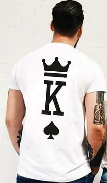Fashion Graphic Tumblr Poker Printing King Queen Heart Streetwear