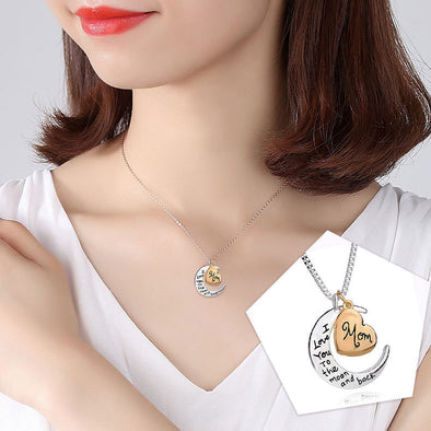 New Fashion Heart Pendant Necklace Letter Mom Necklaces Family Charm Necklace Jewelry For Women