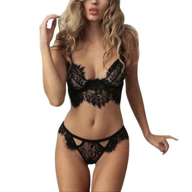 New Fashion Women Lace Push Up Bra+Pants Set Underwear lingerie - BC&ACI