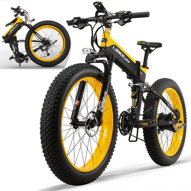 Folding 1000W 48V 26inch Foldable Electric Bicycle Max Range 50km Foldable Ebike for Adults With 13AH  Lithium Battery - BC&ACI