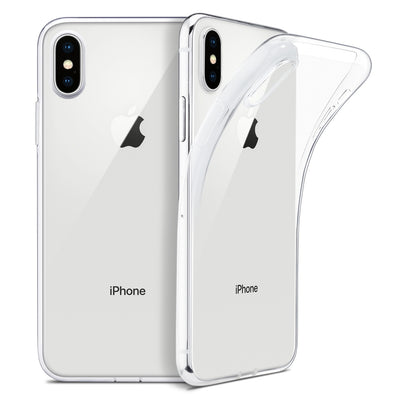 For iPhone X Case, WEFOR Slim Clear Soft TPU Cover Support Wireless Charging for Apple 5.8""