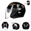 GXT Motorcycle Helmet Half Face ABS Motorbike Helmet Electric Safety Double Lens Helmet Moto Casque for Women/Men Casco Moto #