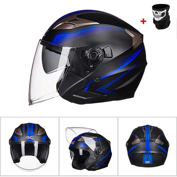 New GXT Motorcycle Helmet Half Face ABS Motorbike Helmet Electric Safety - BC&ACI
