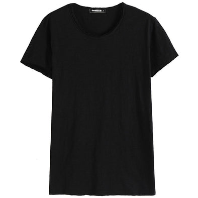 GustOmerD Brand T shirt Man's O-neck Slim Fit Fashion Solid Color T-shirt Pure Cotton T shirt - BC&ACI