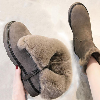 New Flat Women Winter Short Plush Ankle Boots - BC&ACI