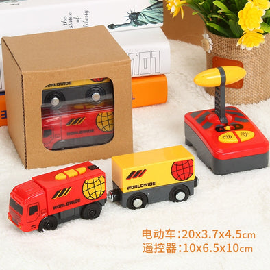 New SAMOHTOY 3PCS/SET Red Remote Control Electric Train  Magnetic - BC&ACI