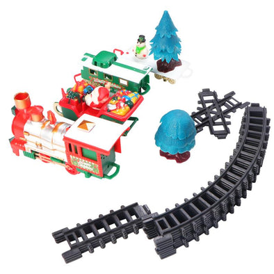 New 1 Set Electric Train Toy Mini Christmas Train With Music And Lights - BC&ACI