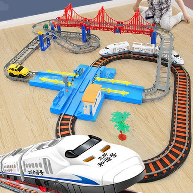 New Electric Train Toy Rails Model Children's Railway Set Trains High Speed Rails - BC&ACI