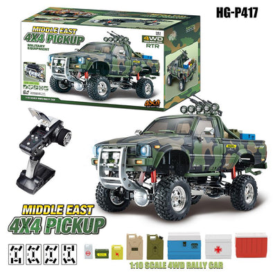 New HG P417 1/10 2.4G 4WD RC Car  4X4 EP Pickup Vehicles Rock Crawler Truck - BC&ACI