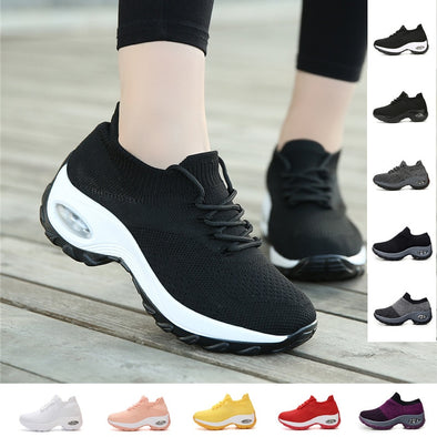 New Women's Chunky Sneakers Breathable Leisure Slip-on Walking Shoes - BC&ACI