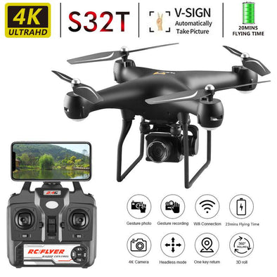 New Drone 4k S32t Rotating Camera Quadcopter Hd Aerial Photography - BC&ACI