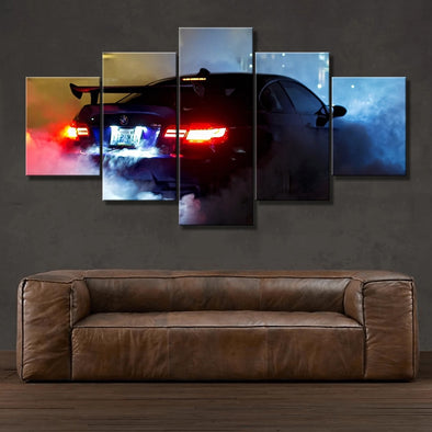 New HD Print 5 pieces Style BMW M3 Super Sports Car canvas painting modern home decor wall art picture living room decor art - BC&ACI