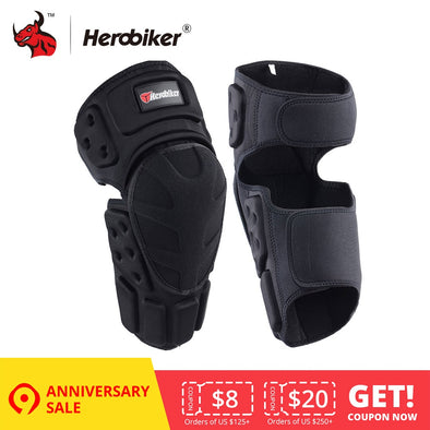 HEROBIKER Motorcycle Knee Pads Motocross Knee Protector Guard Moto - BC&ACI