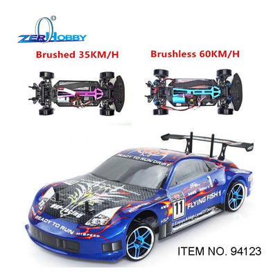 New HSP RC CARY TOYS FLYING FISH RC CARS 1/10 SCALE ELECTRIC BRUSHED RC DRIFT CAR 7.2v 1800mAh BATTERY INCLUDED - BC&ACI