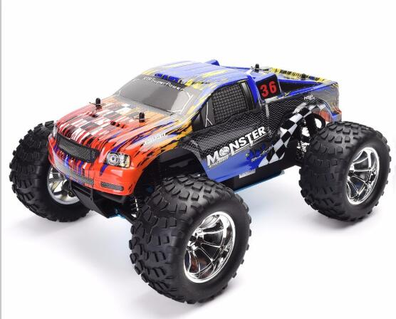HSP RC Truck 1:10 Scale Nitro Gas Power Hobby Car Two Speed Off Road Truck 94188 4wd High Speed Hobby Remote Control - BC&ACI