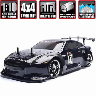 New HSP Rc Car 1:10 4wd On Road Rc Drift Car 94123PRO FlyingFish Electric Power Brushless - BC&ACI