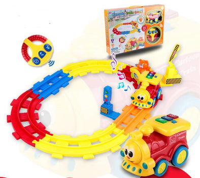 New Sound RC Trains Glowing Toys Baby Electric Remote Control Track - BC&ACI