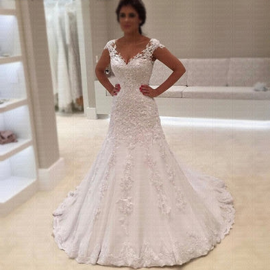 New Lace Mermaid Wedding Dress - BC&ACI