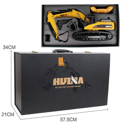 HUINA 580 Hobby RC Hydraulic Excavator Kids Car Toys for Boys Car Styling Big Off Road - BC&ACI