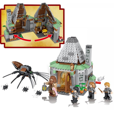 New Hagrid Hut Harri Castle House Mini Animals Figures Building Blocks Bricks - BC&ACI