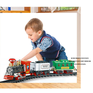 New HIINST Remote Control Conveyance Car Electric Steam Smoke RC Train Set Model - BC&ACI