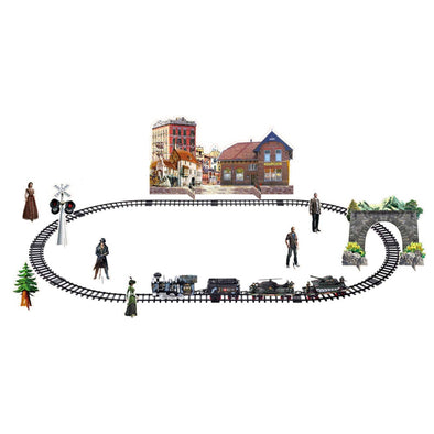 New Kids Classic Remote Control Train Set with Lights, Sound & Real Smoke Army Train - BC&ACI