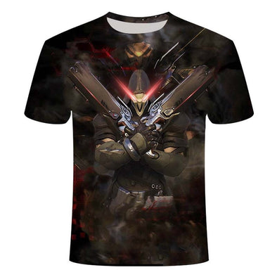 2020 Overwatch 3DT shirt men's fashion gaming battlefield men's t-shirt 3D printing plus size clothes