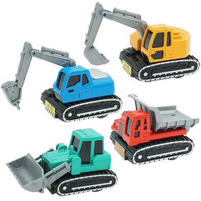 New 4Pack Construction Vehicles Toys Metal Engineering Tractor Mini Pull Back - BC&ACI