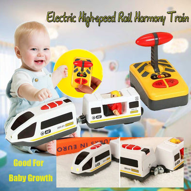 New Remote Control Electric Train Toy Magnetic Slot Compatible With Wooden Track - BC&ACI