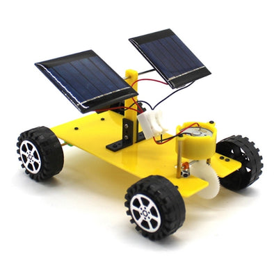 New Handmade Model Toys with Dual Solar Panels (Yellow) - BC&ACI