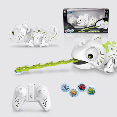 New RC Robot Chameleon Toy Interactive Electronic Kids 2.4GHz Pet - BC&ACI