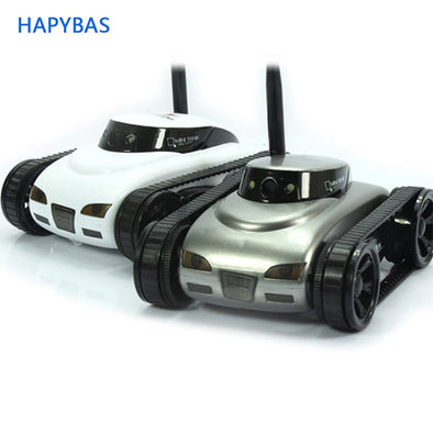 New Mini i-Spy 4CH RC Tank Controlled by IPhone/iPad/Android/IOS Wifi Camera - BC&ACI
