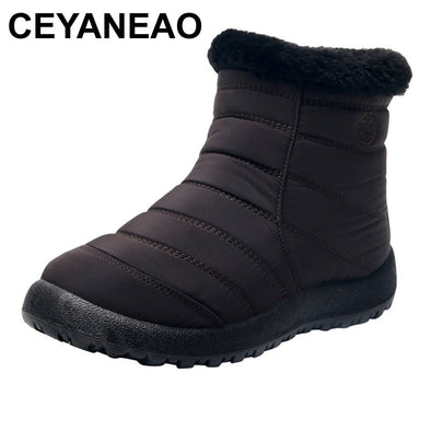 New CEYANEAO Snow Boots for Women Winter Warm Ankle Short Bootie - BC&ACI