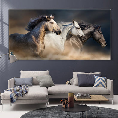 New Horse Art Landscape Canvas Painting Modern Animal Poster Wall Art Posters - BC&ACI