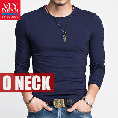 New Spring Fashion Brand O-Neck Slim Fit Long Sleeve T Shirt Men Trend Casual - BC&ACI