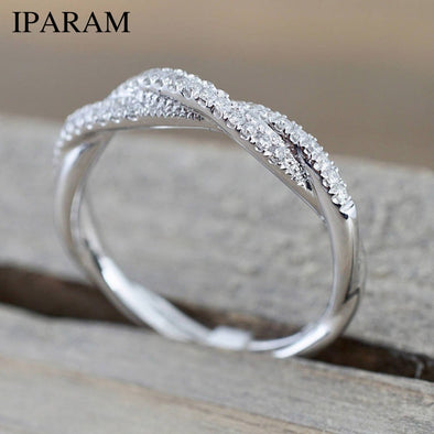 IPARAM Pattern Twisted Rope Hemp Flowers Ring Plating Rose Gold