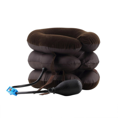 Inflatable Air Compressor Neck Cervical Traction Collar Therapy Massage Pillow Pain Relief Travel Car Cover Cushion