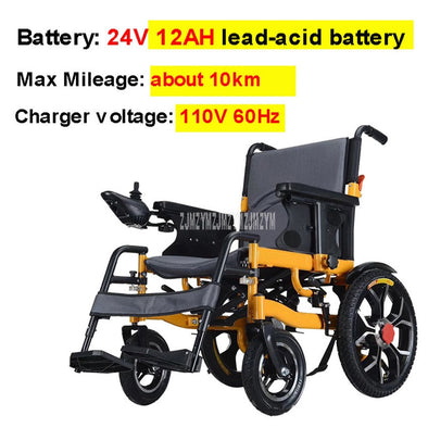 New Intelligent Automatic Electric Wheelchair Aluminum Alloy 10km/20km - BC&ACI