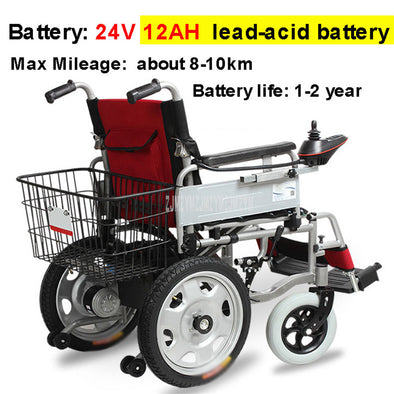 Intelligent Folding Electric Wheelchair With Back Storage Basket - BC&ACI
